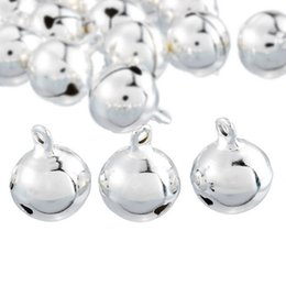 Christmas Ornament Crafts Silver NZ - 20PCs Silver Bells Pendants Hanging Christmas Tree Ornaments Christmas Decorations Party DIY Crafts Accessories 18x14mm