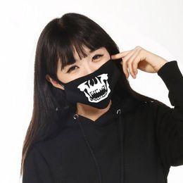 $enCountryForm.capitalKeyWord Australia - Black Face Mask Half Halloween Unisex Cycling Anti Dust Skull Mouth Winter Pure Cotton Riding Hot Sale 2 35ch V