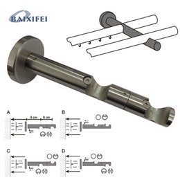iron curtains NZ - D20mm Curtain Rod Decorative Multifunctional Double Bracket
