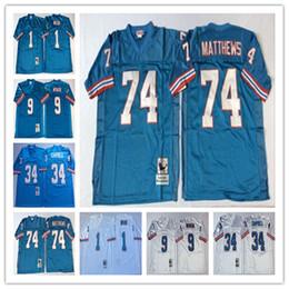 b3ce4c4fb Best Quality Men Jersey  1 Warren Moon Houston  34 Earl Campbell  74 Bruce  Matthews  9 Steve McNair Stitching Football Jerseys