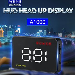 Head Hud online shopping - Digital Car Speedometer Auto quot A1000 HUD Head Up Display Windshield Projector Auto Power on off