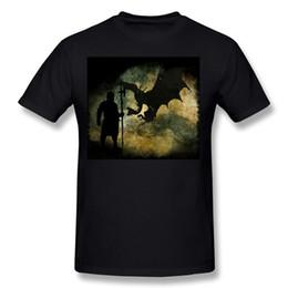 $enCountryForm.capitalKeyWord NZ - New Coming Hombre 100% Cotton Fabric dragon hunter T Shirts Hombre O Neck White Short Sleeve T Shirts Plus Size Street T Shirts