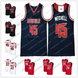 3950c6c91 Louisville Cardinals 45 Donovan Mitchell 14 Anas Mahmoud 24 Montrezl  Harrell 32 Chinanu Onuaku Navy Blue Red White College Basketball Jersey
