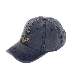 European and American style explosion hat men s cotton baseball cap anchor  embroidery washed old hat Cap20 46f0d668f39