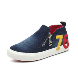 205578a99a4b Pvc Jeans UK - New Spring Autumn Casual Children Shoes Digital Pattern Kids  Canvas Shoes Jean