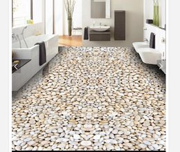 Textile Waterproofing Australia - Self-adhesive Waterproof Flooring Wall Sticker Customized 3D wallpaper floor painting wall paper HD cobblestone minimalist bathroom floor