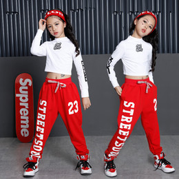 bf4717d6aaba Modern Jazz Dancing Costumes Sets Tops Pants Children'S Performance Suits  Kids Clothing Hip Hop Street Dancing Clothes DL2009