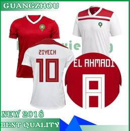 7f30f0fea33 2018 World Cup Morocco Football Jersey ZIYECH BOUTAIB BOUSSOUFA EL AHMADI  BENATIA Blank Custom Home Road Third Red White Green Soccer Shirt