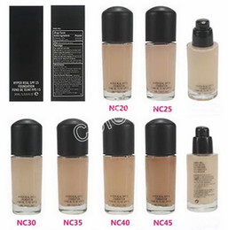 different types makeup 2019 - Makeup Foundation Hyper Real SPF 15 Foundation Fond De Teint FPS15 Have 6 Different Colors 30ML discount different types