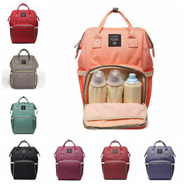 eco diaper bags NZ - 14 Colors New Multifunctional Baby Diaper Backpack Mommy Changing Bag Mummy Backpack Nappy Mother Maternity Backpacks 20pcs H02r