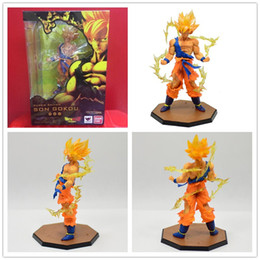 $enCountryForm.capitalKeyWord Australia - 6pcs DHL Japan Hot Sales Anime 18CM dragon ball z Son Goku action figures Super Saiyan PVC Collectible Toy model for Birthday Gift