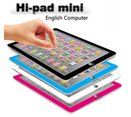 Kids Laptop Learning NZ - new Learning Toy game Tablet pad chinese English Computer Laptop Y Pad Kids Game Music Education Christmas Electronic Notebook