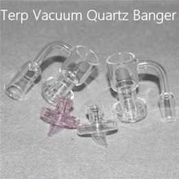 14mm Bong Sets NZ - Hot Sale Set Terp Slurper Banger & Carb Cap Terp Vacuum Quartz Banger 10mm 14mm 18mm Domeless Nail For Glass Bongs