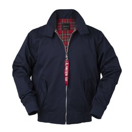 Ingrosso 2018 Autunno harrington vintage giacca bomber da uomo stile europeo plus size cotone casual safari impermeabile