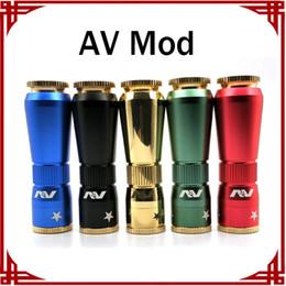 Discount new av mod - New AV Mods E Cigarette Machinery Mods AV Magnetic Button Mod 24mm Diameter 5 Colors 510 Thread Mods Free Shipping