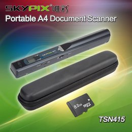 Discount a4 cases - Wholesale- Skypix TSN415 High Speed USB 2.0 Handheld A4 Document Scanner W 8GB TF Card & Carry Case 900dpi HD Scanner Po