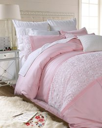Black White Rose Bedding Canada - Coon princess lace bedding sets girls,pure white queen king rose weding home textiles bed sheets pillow case quilt cover