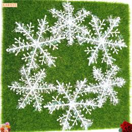 white plastic snowflakes 2019 - 15pcs Multi-size Christmas tree decoration Snowflake jewelry White plastic artificial snow Christmas home decoration 6ZD