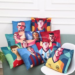 messi case NZ - In Stock! Real Madrid Messi Football Pillow Case Personality Square Cushion Sofa Car Livingroom Bedroom Pillow Covers 45*45cm WX-P21