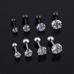 Brincos Mens Medical brincos de titânio tamanho 3/4/5/6 milímetros Estrela de Cristal Cartilagem Brinco piercing Top Body Jewelry Men Brinco em Promoção
