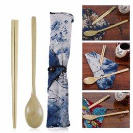 Commercio all'ingrosso-PREUP Bacchette e cucchiai di bambù in legno di faggio naturale giapponese