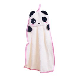 towel hang UK - Kitchen Supplies New Character Hanging Towel Cute Animals Hand Towel Cartoon Hanging Bath (Random color)
