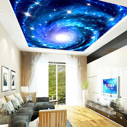 Custom 3D Photo Wallpaper Galaxy Star Ceiling Fresco Wall Art Painting  Living Room Bedroom Ceiling Mural Wallpaper De Parede 3D