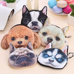 $enCountryForm.capitalKeyWord Australia - Novelty Coin Purses Cute Dog Face Zipper Case Wallet Makeup Buggy Bag Pouch Clutch Bag