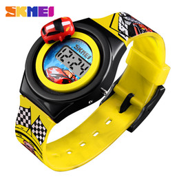Chinese  Fashion Creative Cartoon Car Children Watch Brand Digital Electronic Kids Wristwatch For Student Watches Boys Child Girls Clock manufacturers