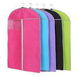 $enCountryForm.capitalKeyWord Australia - Wholesale Non-woven Clothing Dustproof Cover Suits Coats Dust Clothes Garment Bag Storage Protector Organizer Bag