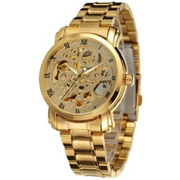 $enCountryForm.capitalKeyWord Australia - WINNER Luxury Women Stainless Steel Band Wristwatches Roman Number Skeleton Dial Automatic Mechanical Watch Ladies Wristwatch SLZ82