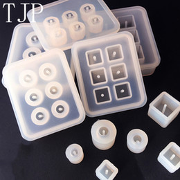 $enCountryForm.capitalKeyWord UK - New Transparent Rectangle Silicone Beads Mould Square Ball 6 Hanging Holes DIY Epoxy Jewelry Molds resin tools 14 pcs lot Wholesale