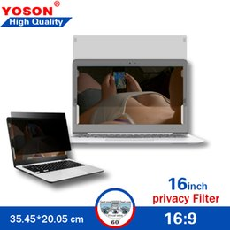 Privacy Computer Filter Australia - Privacy Screen for 16-inch Widescreen (16:9 Ratio) Laptops Computer Monitor Screen Protectors Privacy Filter