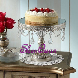 Cupcakes Toppings Australia - Wholesale Advanced Double Round Crystal fruit racks for wedding party decoration,Cupcake Top Decor for wedding centerpieces