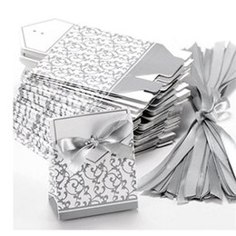 Silver Gift Wrapping Paper NZ - Fashion Wedding Favour Favor Bag Sweet Cake Gift Candy Wrap Paper Boxes Bags Anniversary Party Birthday Baby Shower Presents Box 098