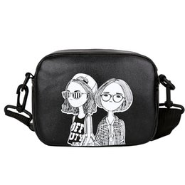 stylish girls handbags NZ - Stylish Women Handbag Girls Pattern Solid Multifunction Zipper PU Leather Shoulder Bag Girls Messenger Crossbody Bag Bolsa