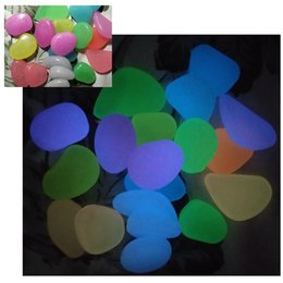 Luminous Pebbles Stones Gioca Giocattoli per bambini Glow In The Dark Per Fish Tank Matrimonio Decorazioni per la casa Ornamenti da giardino Artigianato Giocattoli