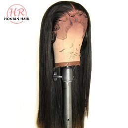 Chinese  Honrin Hair 13x6 Deep Part Lace Front Wig Silky Straight Pre Plucked Hairline Brazilian Virgin Human Hair Wig 130% Density Bleached Knots manufacturers