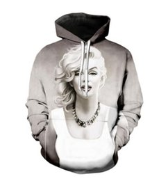 sweatshirt character 3d UK - Marilyn Monroe 3D Printed Pullover Hoodies hooded Sweatshirts for Women men M07