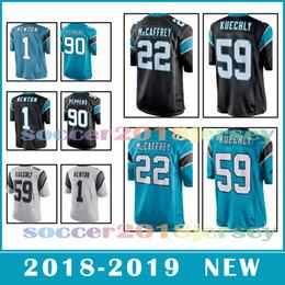 c4a919bc0 Carolina Panther 22 Christian McCaffrey 59 Luke Kuechly 1 Cam Newton Men s  football jerseys 2018-2019 NEW