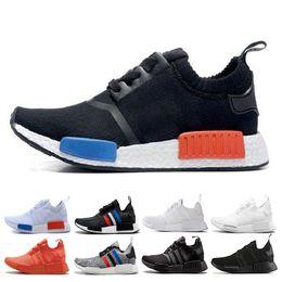 8b732f9f8df75 New NMD Runner R1 Sneaker Japan Triple black white red PK OG Tri-Color Men  Women Running Shoes trainer mens sports Shoes size 36-45