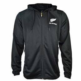 China Best Quality All Blacks Black Hoodie 2019 New Zealand Super Rugby Jerseys 18 19 All Blacks jersey Casual clothes ALL BLACKS Jacket s-2xl cheap best breathable jacket suppliers