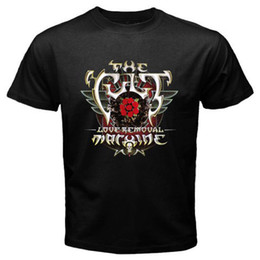 tee machine Australia - New The Cult Love Removal Machine Album Cover Men's Black T-Shirt Size S-3XL T shirt Summer Style Fashion Men T Shirts top tee
