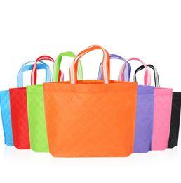 $enCountryForm.capitalKeyWord UK - New Non-woven Fabric Shopping Bags Reusable Woman Handbag Clothing Reticule Storage Bag For Party Favor Gift LX3703