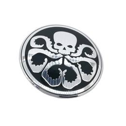 Jaguar stickers online shopping - Hydra Octopus skull Car Steering tire Wheel Center car sticker Hub Cap Emblem Badge Decals Symbol For VW Jaguar Audi BMW Nissan