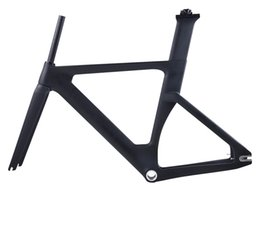 Bicycling Gear Australia - 2019 new full carbon track frame road frames fixed gear bike frameset with fork and seat post carbon bicycle frame track bike