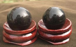 china ball lighting Canada - 2pcs NATURAL OBSIDIAN POLISHED CRYSTAL SPHERE BALL REIKI