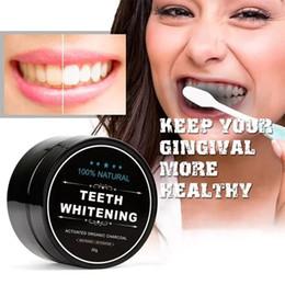 Cuidado de la salud Blanqueamiento dental Polvo para escalar Higiene bucal Limpieza de polvo de carbón de bambú activado