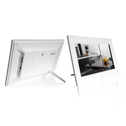 Discount video digital picture frame - Support 16GB SD Cards 10inch HD 16:9 Digital Photo Frame Album Picture With MP4 Movie Player Function Built-in Speakers