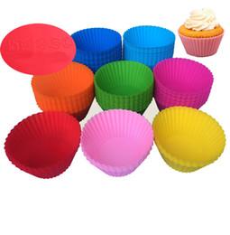 Силиконовые кекс плесень 7 см кекс кекс плесень красочные круглая форма формы для выпечки чайник плесень лоток выпечки Кубок лайнера формы на Распродаже